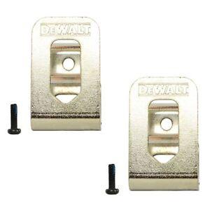 Dewalt Belt Clip Hook & Screw 2PK for 12V 20V Drill Impact Driver Flashlight