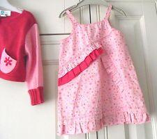VERT BAUDET-Rose Floral Robe Set-Age 12 Mois