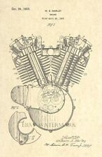 Official Harley Davidson Engine US Patent Art Print - 1923 V Twin Motorcycle 10