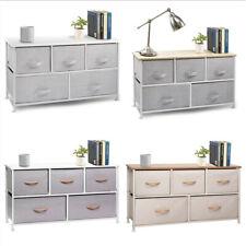 Dresser Bedside 5 Drawers, Furniture Storage Tower Unit for Bedroom, Office