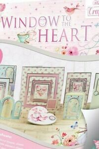 """22 Foiled Sheets 8"""" x 8"""" Hunkydory Window to the Heart Craft Theme NEW"""