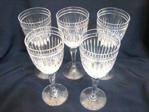 "5 Marquis Waterford Hanover Crystal Stemware Wine/Water Glasses Goblet 8-1/2"""