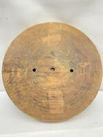 "Vintage Superb Wood Brim Hat Block Head Style Form Display Mold Millinery 48""in"