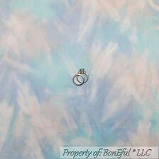BonEful Fabric FQ Cotton FLANNEL Quilt BALI Batik Blue Purple White S Tonal Baby