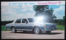 In Tune With the Times...General Motors '77 Car and Truck 36 page brochure