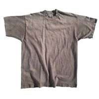 Vtg 90s Thrashed Distressed Faded Blank Single Stitch FOTL T-Shirt XL USA Made