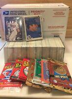 ESTATE SALE Baseball Cards 525 Mint Cards + 7 Sealed Packs + HOF- FREE POSTAGE!