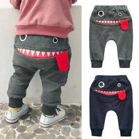 Baby Children Kids Boys Girls Cartoon Shark Tongue Harem Pants Trousers Pants