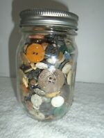 Ball Canning Jar Full Of Vintage Buttons mixed