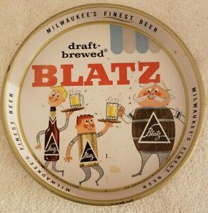Vintage 1950's BLATZ BEER Bar Advertising Metal Serving Tray Milwaukee's Finest