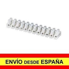 Regleta de 12 Secciones Conexiones Eléctricas 6 mm 15 Amperios Blanca a3433