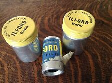2 Ilford Film Tins & 1 Film Canister C. 1950'S