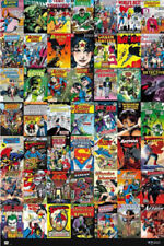 DC COMICS POSTER FAMOUS COMIC BOOK COVERS Poster 24x36
