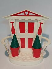 Plastic House Napkin Holder With Topiary Tree Salt And Pepper Shakers