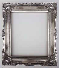 """12 x 10"""" Silver/Gold Ornate Swept Picture Photo Frame with Glass and Back"""