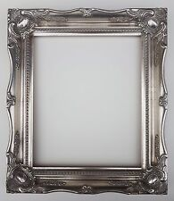 "12 x 10"" Silver Ornate Swept Picture Photo Frame with Glass and Back"