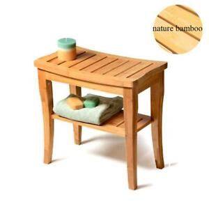 Teak Shower Stool Wood Safety Seat Wooden Home Spa Bath Bench Bathroom Chair