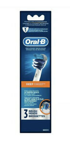Oral-B Deep Sweep Replacement Toothbrush Brush Heads Refills - 3 Total