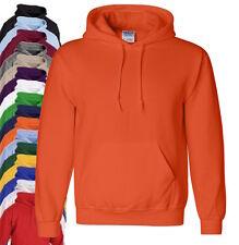 Gildan Plain Heavyweight Hooded Sweat Hoodie No Logo 18 Colours S-5XL