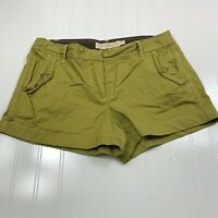 J.Crew Womens City Fit Chino Shorts Size 8 Classic Twill Green Flat Front Pocket