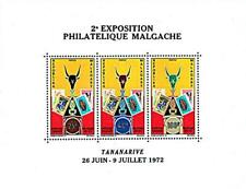 Madagascar 1972 Stamp Expo S/s Mnh Sc#470a Stamps on stamps