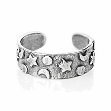Adjustable Star Moon Toe Ring Sterling Silver 925 Best Deal Jewelry USA Seller