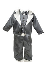 Cheap Baby Boys Christening Set Buttoned Detail Available in Cream or Grey