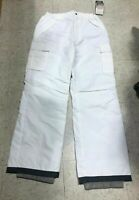 Waterproof Snow Snowboarding Ski Insulated Cargo Pants White Mens Size S and M