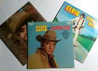 Elvis Presley 3 Vinyl LP Lot- Separate Ways- Flaming Star- Guitar Man Tested