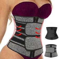 Entrenador de cintura Reductora Sauna Sudor Cinturón Deportes Body Shaper Mujer Hombre Delgado Cinturón
