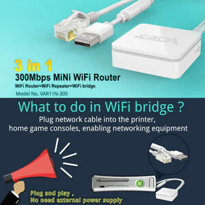 Wired to Wireless Converter Ethernet to WIFI Adapter For CCTV Smart TV TV Box