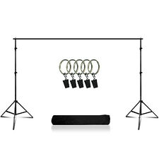 Photo Muslin Background Backdrop Support Crossbar Stand Kit Photography Studio