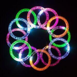 Party Lights LED Bracelet Wristband Arm Colour Band Glow Flashing Colourful