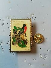 Pin's Pins timbre stamp postage Wisconsin bird oiseau