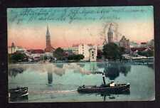 96331 AK Berlin Cöpenick Rathaus und Kirche Dampfer 1908
