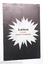 Leica Flash Guide Numbers 1957 Braun Lamps M3 - ENG - USED B28
