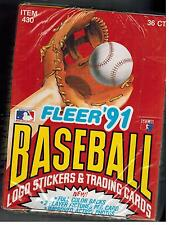1991 FLEER BASEBALL CARDS UNOPENED BOX  36 PACKS PROVISION ALL STAR INSERTS ++