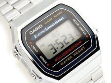 Casio Retro Mens ladies Digital Watch Alarm Silver A168 A168W A168WA-1U Unisex