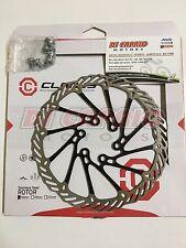 Disco Freno Rotore Bici MTB D. 160 mm CLARKS Acciaio inox Nero