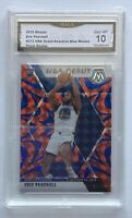 Eric Paschall 2019-20 Panini Mosaic Blue Reactive Prizm NBA Debut Rookie GMA 10