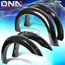 FOR 99-07 FORD F250-F450 FENDER WHEEL FLARES KIT POCKET RIVET BLACK ABS PLASTIC
