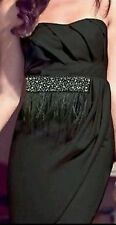 BNWT *LIPSY* Size 6 BLACK BANDEAU  EMBELLISHED  FEATHER DRESS, PROM PARTY, £75