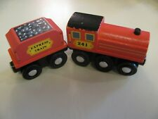 Melissa & Doug Wooden Train red & caboose Brio Thomas Express 240
