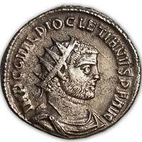 284-305 A.D. BI AE Antoninanus, Siscia Mint, Diocletian, CONCORDIA MILITVM