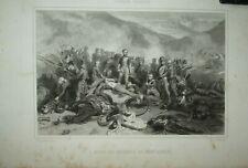 MORT DU COLONEL DE MONTAGNAC ALGERIE gravure de Geoffroy d'après Philippoteaux