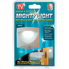 NEW Mighty Light Motion & Light Sensor Activated Indoor & Outdoor