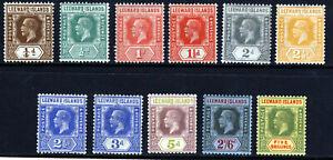 LEEWARD ISLANDS KG V 1921-32 Die II Wmk Mult Script CA Group SG 58 to SG 78 MINT
