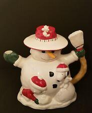 Lenox Snowman Christmas Teapot Snoopy Charlie Brown