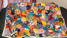 """Patchwork Quilt 39"""" X 52""""  Multi-color Floral  Pattern Throw Many Different"""