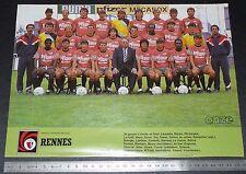 CLIPPING POSTER FOOTBALL 1986-1987 STADE RENNAIS RENNES ROAZHON